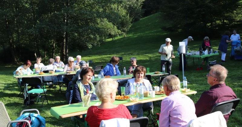 Vereins-Picknick in den Gärten der Welt